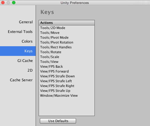 Unity - Manual: Preferences
