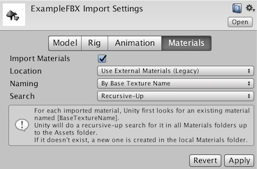 Unity Import Fbx