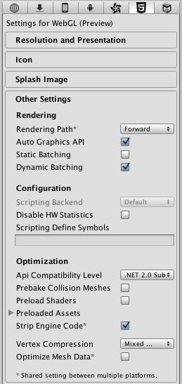 Unity - Manual: WebGL Player Settings