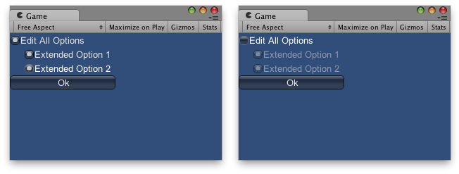 Unity - Scripting API: GUI enabled