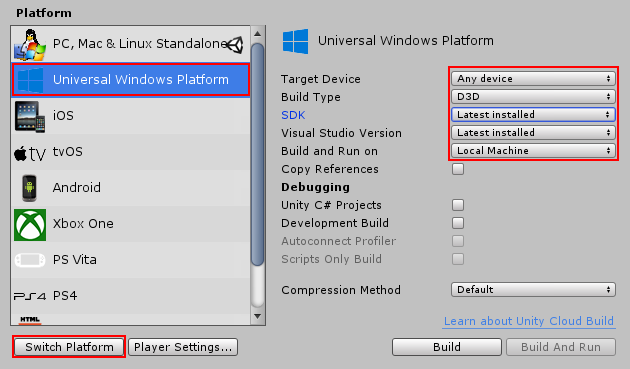 Unity - Manual: Windows Mixed Reality: Quick start guide