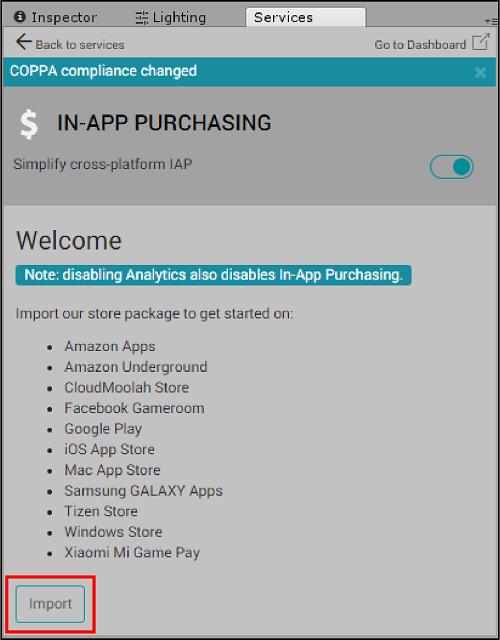 Unity - Manual: Unity IAP Xiaomi integration guide