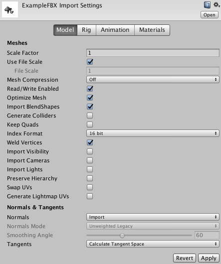 Unity - Manual: Model Importer: Model
