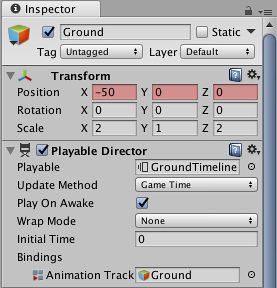 Unity - Manual: Recording basic animation with an Infinite clip