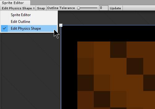 Unity - Manual: Sprite Editor: Edit Physics Shape