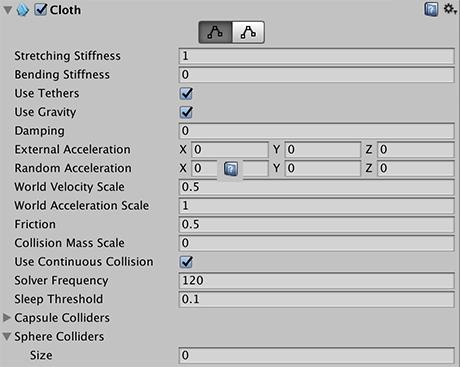 Unity Manual Cloth