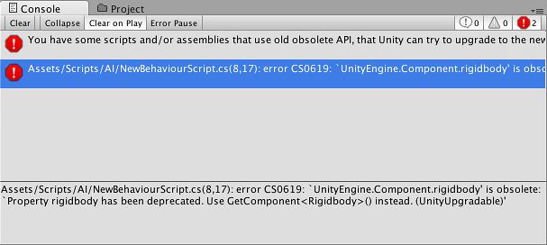 Unity - Manual: Console Window