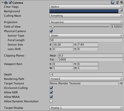 Unity - Manual: Camera