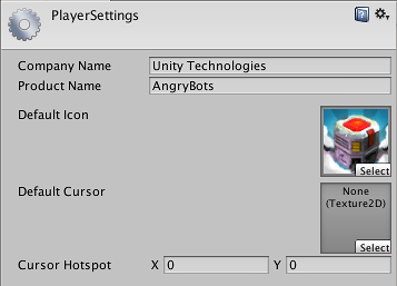 Unity - Manual: Player Settings