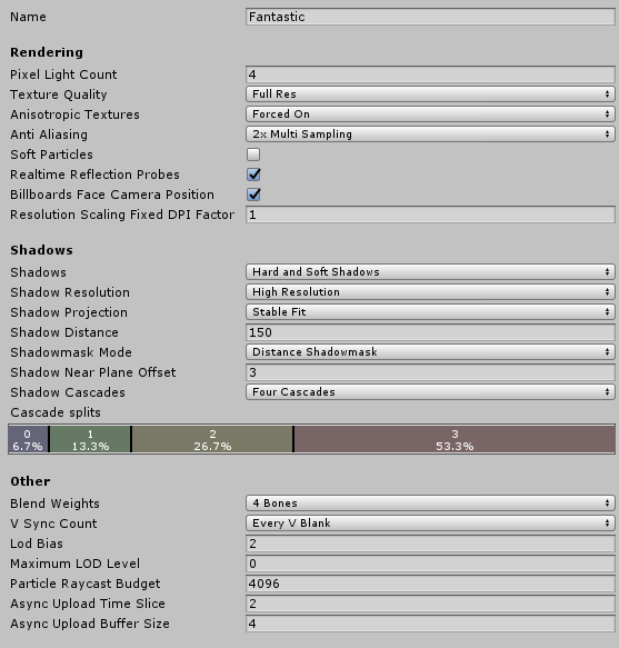 Unity - Manual: Quality Settings