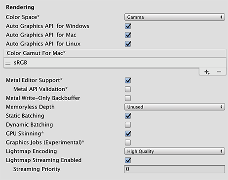 Unity - Manual: Player settings for Standalone platforms