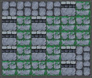 連続したタイル領域を選択したタイルに置き換えます。