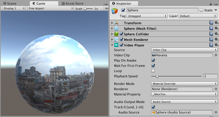 Unity - Manual: Video Player component