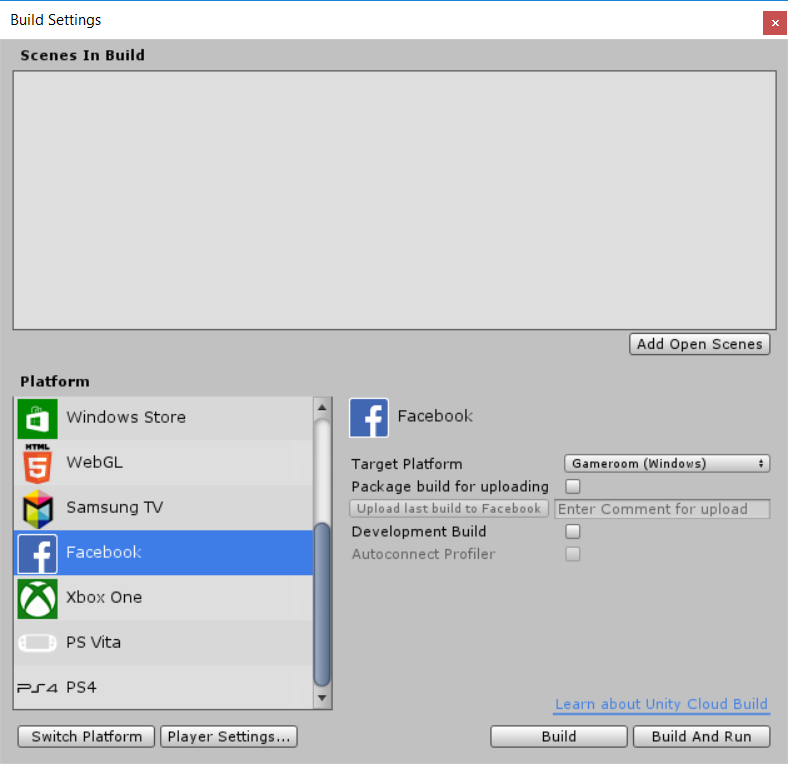 Unity - Manual: Getting started with Facebook development
