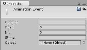 La ventana del inspector de eventos de animación