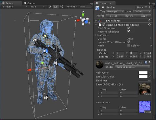 Unity skinned mesh renderer 3d model editor