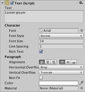 Unity - Manual: Text