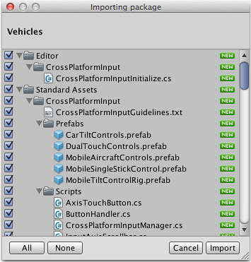 Unity - Manual: How do I install or upgrade Standard Assets?