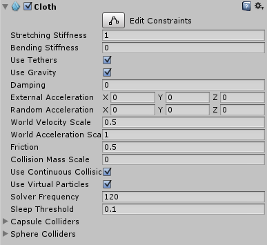 Unity - Manual: Cloth