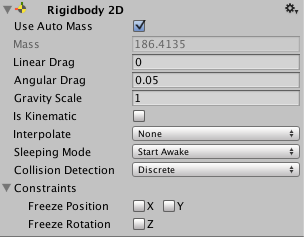 Unity - Manual: Rigidbody 2D