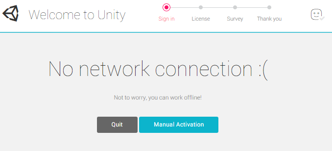 Unity - Manual: Offline / Manual Activation