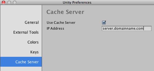 Unity - Manual: Cache Server