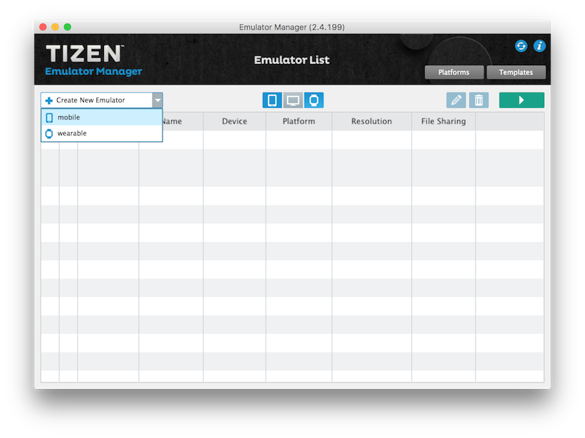 Unity - Manual: Tizen Emulator