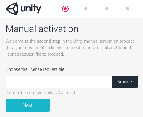 Unity - Manual: Offline / Manual Activation