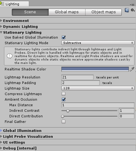 Unity - Manual: Baked ambient occlusion