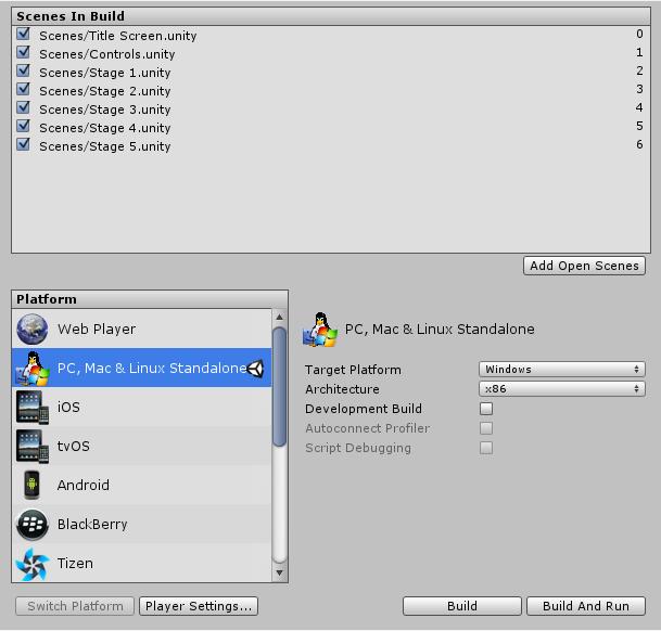 Unity - Manual: Publishing Builds