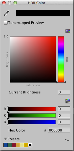 Unity - Manual: HDR color picker