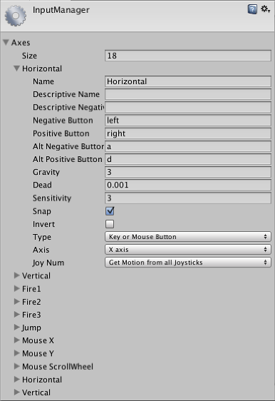 Unity - Manual: Input Manager