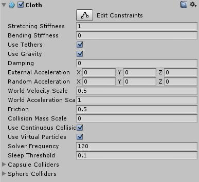 Unity - Manual: Cloth