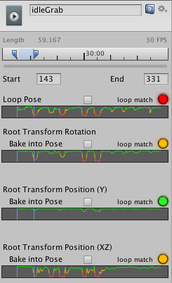 unity manual looping animation clips