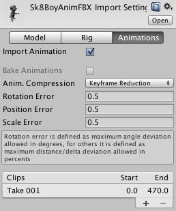 Unity - Manual: Splitting Animations