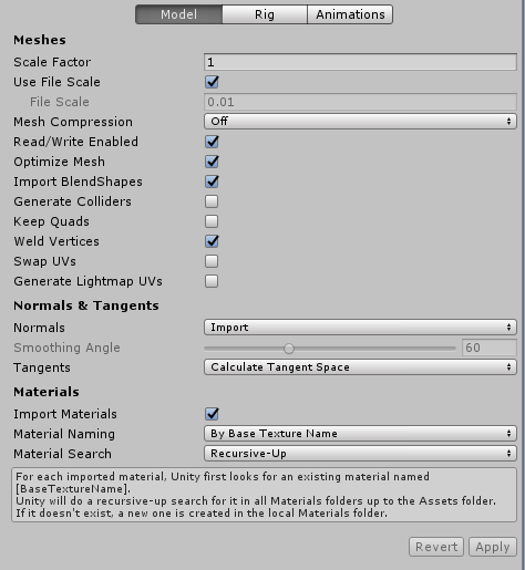 Unity - Manual: Animation from external sources