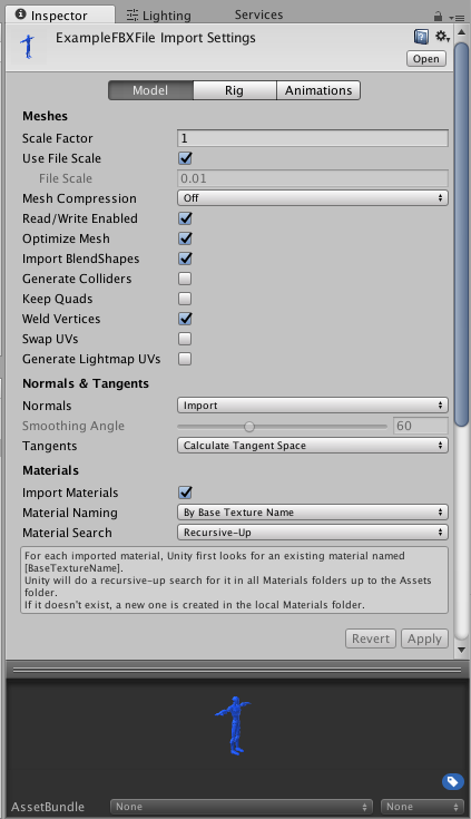 Unity - Manual: How do I import models from my 3D app?