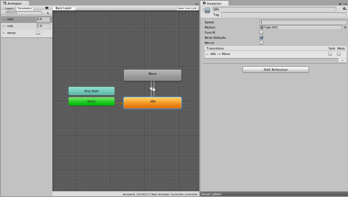 Unity - Manual: Coupling Animation and Navigation