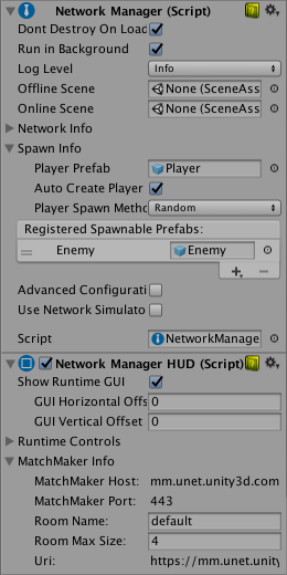 Unity - Manual: Using the Network Manager