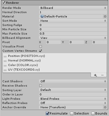 Unity - Manual: Renderer module