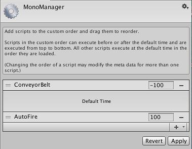 Unity - Manual: Script Execution Order Settings