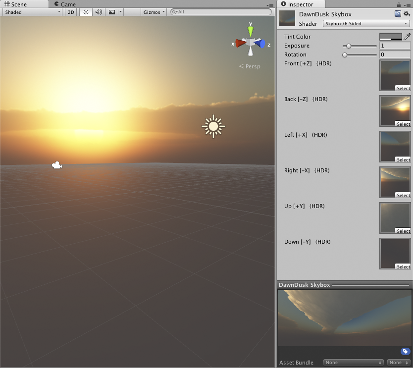 Unity - Manual: Skybox