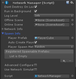 Unity - Manual: Setting up a Multiplayer Project from Scratch