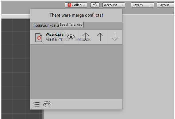 Unity - Manual: Resolving file conflicts