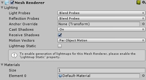 Unity - Manual: Mesh Renderer