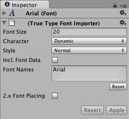 Unity - Manual: Font