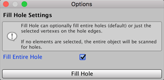 Fill Hole (Edges) | Package Manager UI website