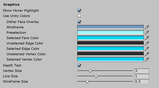 ProBuilder Preferences window | Package Manager UI website