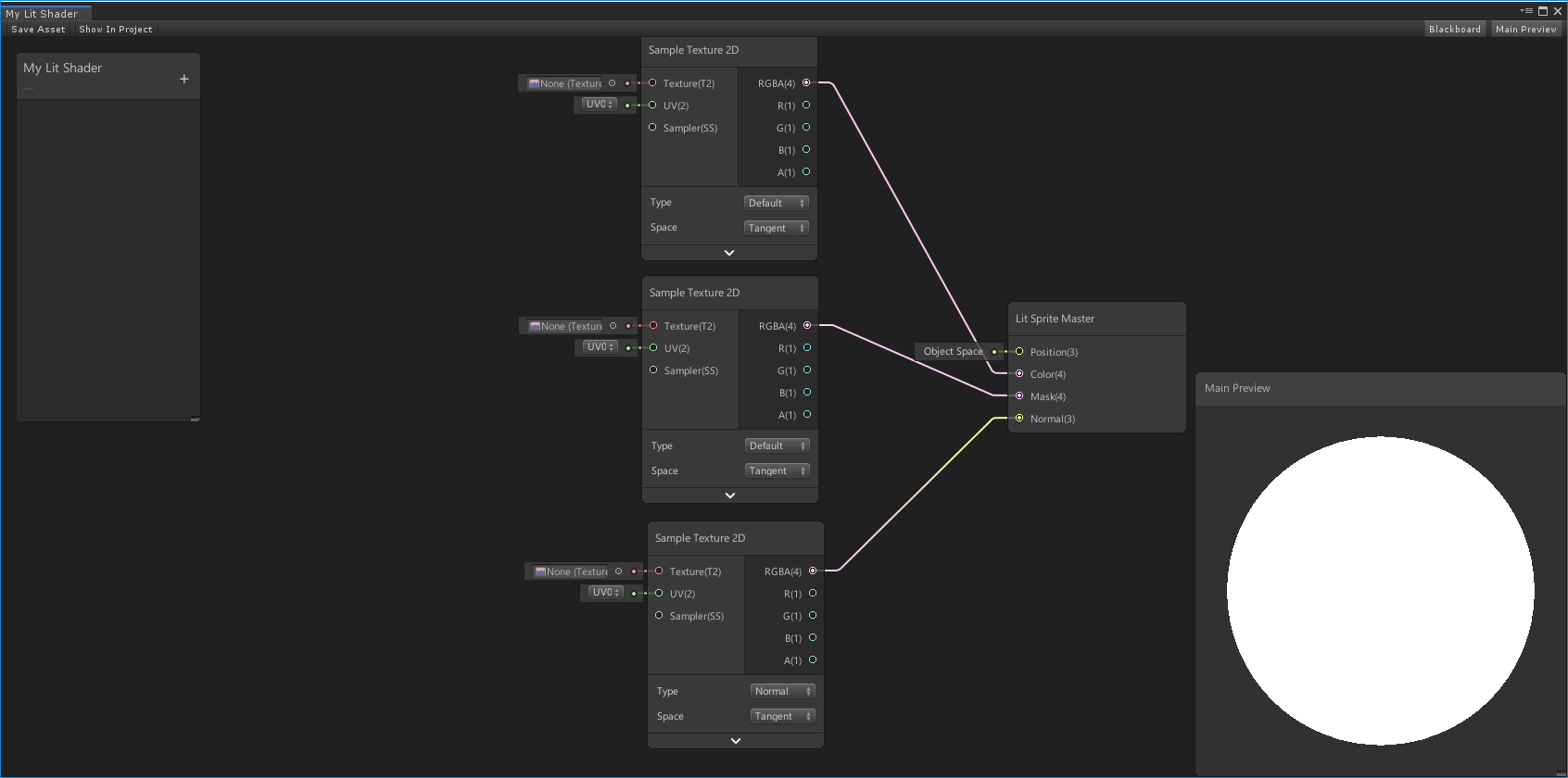 Working with Shader Graph | Package Manager UI website