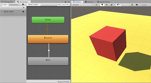 Unity - Scripting API: Animator Play